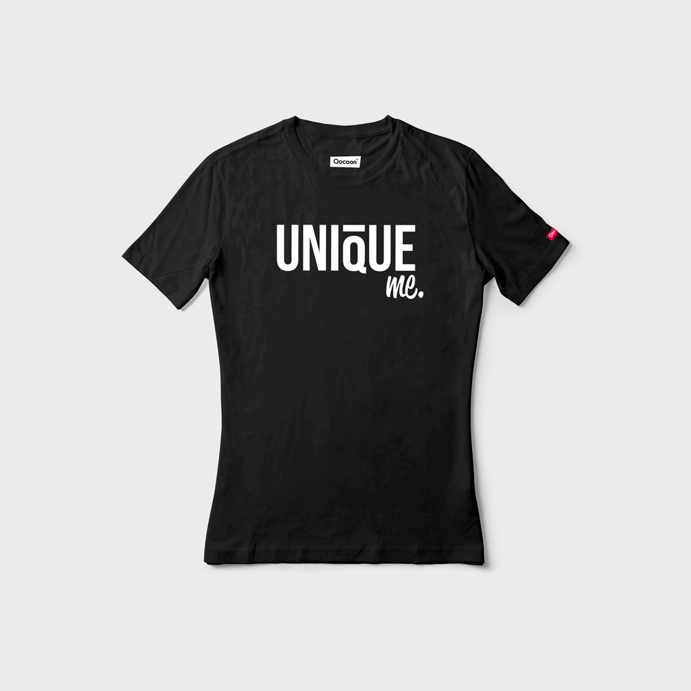 WOMEN-QOCOON-Tee-UNIQUE-Black-Front