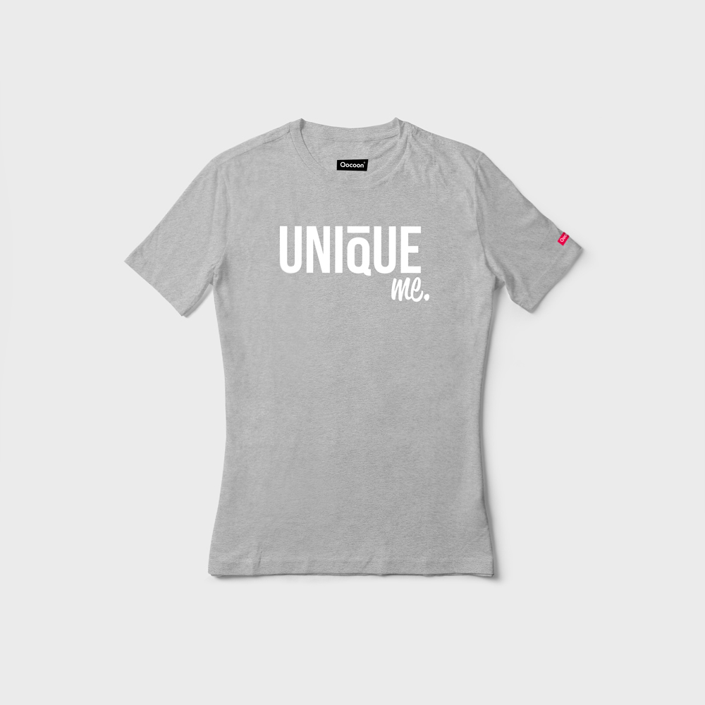 WOMEN-QOCOON-Tee-UNIQUE-Gray-Front